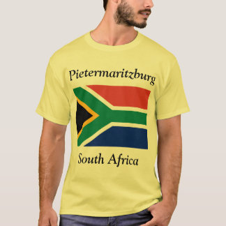 Pietermaritzburg, South Africa with Flag T-Shirt