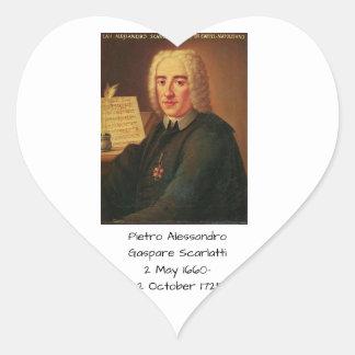 Pietro Alessandro Gaspare Scarlatti Heart Sticker