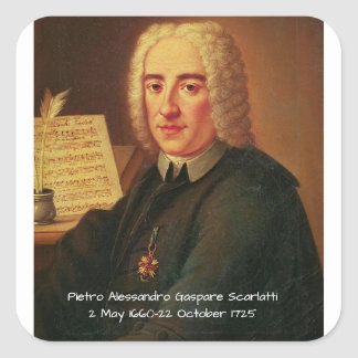 Pietro Alessandro Gaspare Scarlatti Square Sticker