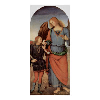 Pietro Perugino - Archangel and little Tobias Poster