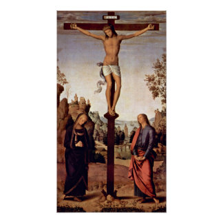 Pietro Perugino - Crucifixion with Mary Poster