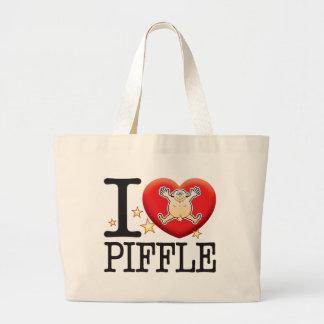 Piffle Love Man Large Tote Bag