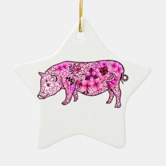Pig 3 ceramic ornament