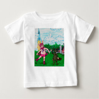Pig and Raccoon and a Rocket Baby T-Shirt