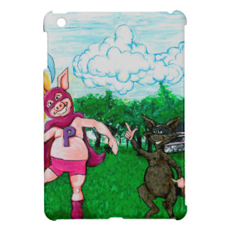 Pig and Raccoon and a Rocket iPad Mini Case