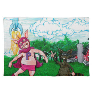 Pig and Raccoon and a Rocket Placemat