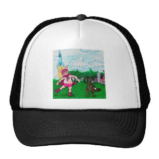 Pig and Raccoon and a Rocket Trucker Hat