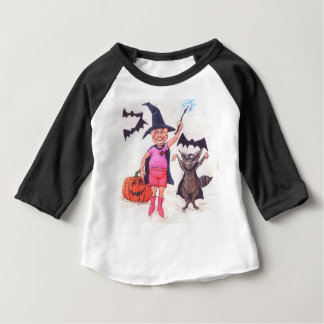 Pig and Raccoon Halloween Baby T-Shirt