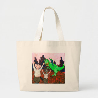 Pig and Raccoon have a Bad Day Large Tote Bag