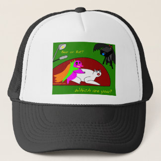 pig and sheep trucker hat
