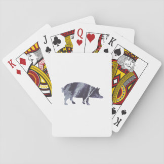 Pig art playing cards