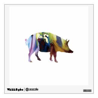 Pig art wall decal