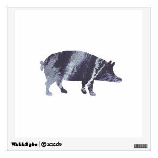 Pig art wall sticker