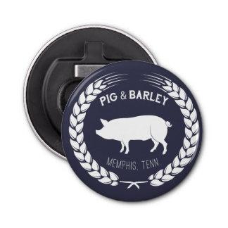 Pig & Barley Bottle Opener Button Bottle Opener