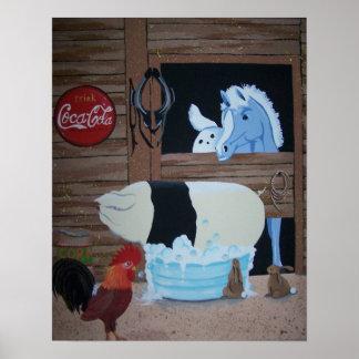 pig bath poster