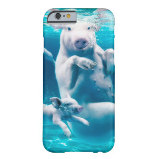 Pig beach - swimming pigs - funny pig barely there iPhone 6 case