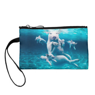 Pig beach - swimming pigs - funny pig coin purse