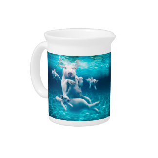 Pig beach - swimming pigs - funny pig drink pitcher