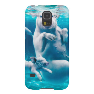 Pig beach - swimming pigs - funny pig galaxy s5 covers