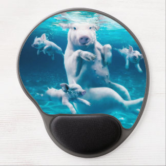 Pig beach - swimming pigs - funny pig gel mouse pad