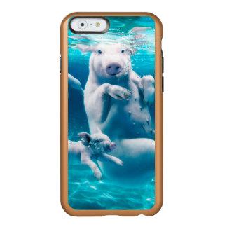 Pig beach - swimming pigs - funny pig incipio feather® shine iPhone 6 case
