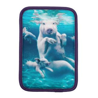 Pig beach - swimming pigs - funny pig iPad mini sleeves