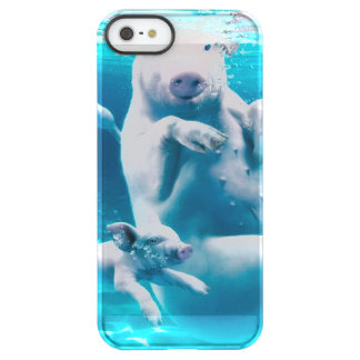 Pig beach - swimming pigs - funny pig permafrost® iPhone SE/5/5s case