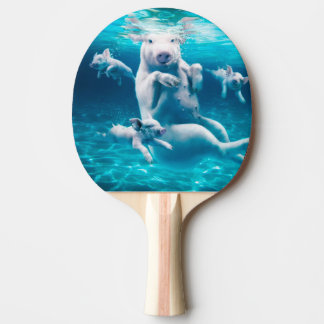 Pig beach - swimming pigs - funny pig ping pong paddle