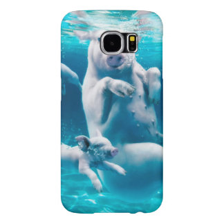 Pig beach - swimming pigs - funny pig samsung galaxy s6 cases