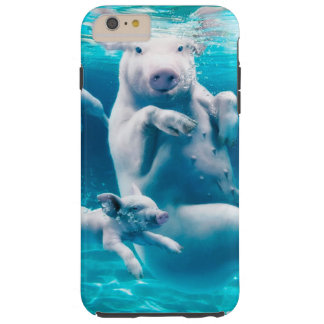 Pig beach - swimming pigs - funny pig tough iPhone 6 plus case