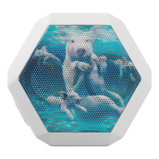 Pig beach - swimming pigs - funny pig white bluetooth speaker