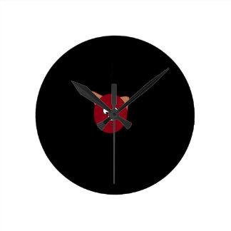 pig cartoon clock
