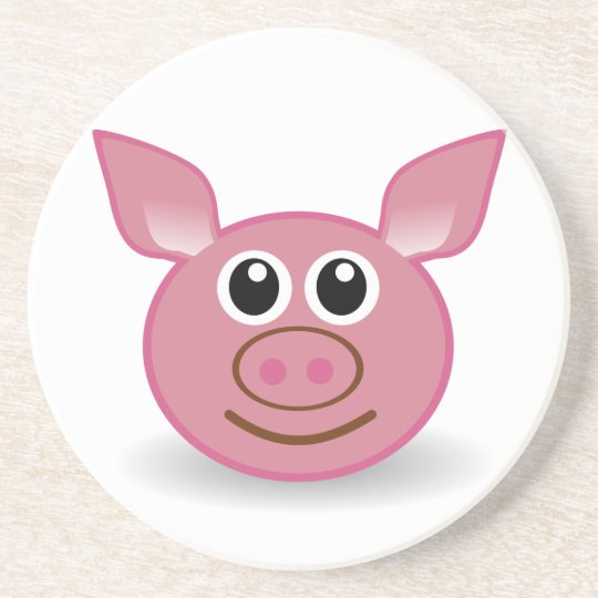 Pig Cartoon Face Coaster