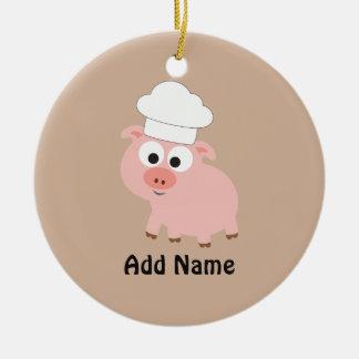 Pig Chef Ceramic Ornament