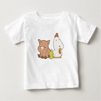 Pig, Chick, & Chicken Baby T-Shirt