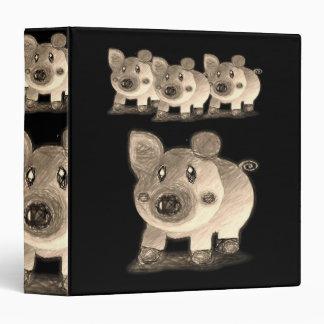 Pig children's school binder