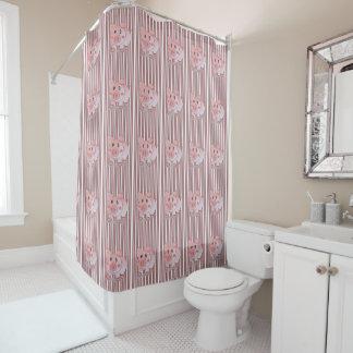 Pig children's shower curtain