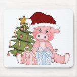 Pig & Christmas Tree Mouse Pad