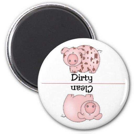 Pig Clean Dirty Dishwasher Magnet