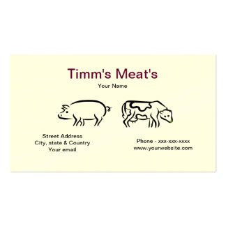 Pig & Cow Meats Business Card