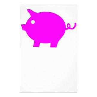 Pig Customized Stationery