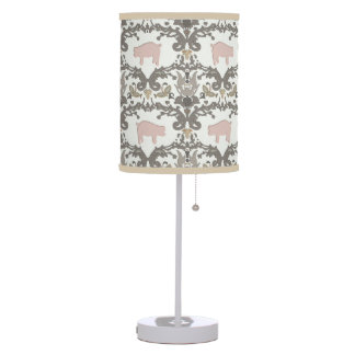 pig damask table lamp