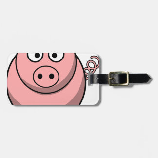 Pig Drawing Luggage Tag