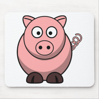Pig Drawing Mouse Pad