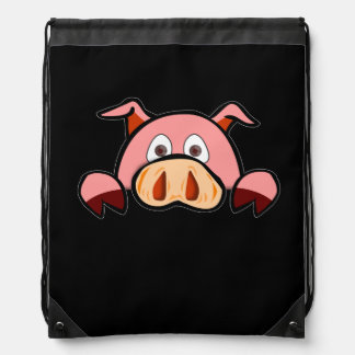 Pig Drawstring Backpack