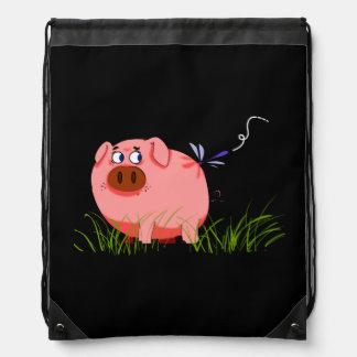Pig Drawstring Backpack