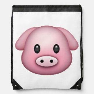 Pig - Emoji Drawstring Bag