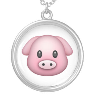 Pig - Emoji Silver Plated Necklace