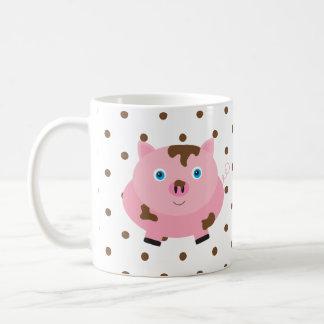 Pig Face Farm Animal Dot Morning Sunshine Mug