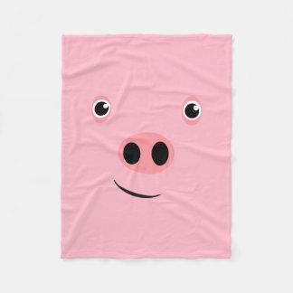 Pig Face Fleece Blanket